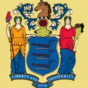 Buff and Jersey blue NJ flag
