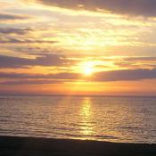 Sunrise in Hampton Beach, New Hampshire
