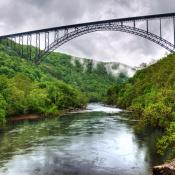 Bridge spanning the New River Gorge in West Virginia