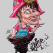 Teresa Farrington self-caricature