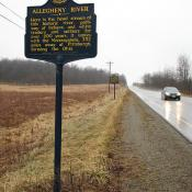 Historic Markers on Pennsylvania Highway