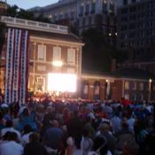 Philly POPS performs on Independence Mall