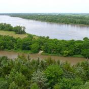 Platte River at Mahoney State Park, Nebraska