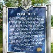 Pomfret, Connecticut historic marker
