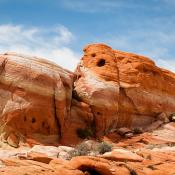 Sandstone rocks in Valley of Fire, Nevada