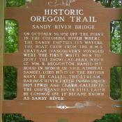 Historic Oregon Trail - Sandy River Bridge historic marker