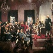 Signing of the U.S Constitution at Philadelphia Convention