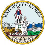 Official seal of the District of Columbia.