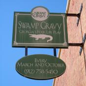 Swamp Gravy sign in Colquitt, GA