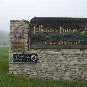 Tallgrass Prairie National Preserve Entrance in Kansas