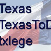 Official hashtags of Texas; #Texas; #TexasToDo; #txlege