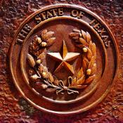 Texas coat of arms on state seal