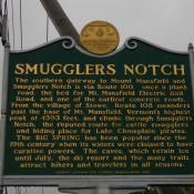 Smugglers Notch historic marker in Vermont