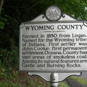 Wyoming County, West Virginia historic marker