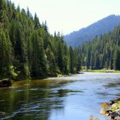 Wild and scenic river in Idaho