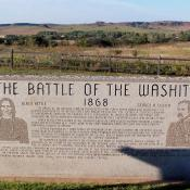 Historical Marker at Washita Battlefield, Oklahoma