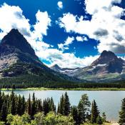 Mountains in Glacier National Park, Montana
