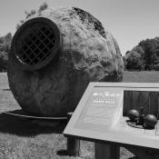 Hornet balls in Goldvein, Virginia; used to crush ore for gold mining in the late 19th and early 20th centuries