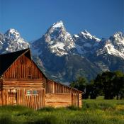 Stunning mountain vista; Grand Teton National Park, Wyoming