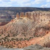 Ghost Ranch landscape in northern New Mexico