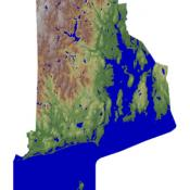 Rhode Island topography map