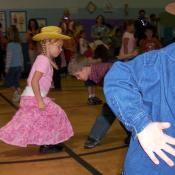 Square dancing kids