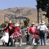 Square dancers in Tehachapi, California