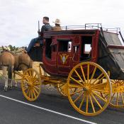 1800s stagecoach overland journey reenactment