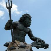 Neptune sculpture at Virginia Beach, Virginia USA