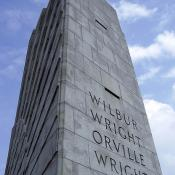 Wright Brothers memorial is made of gray granite from North Carolina