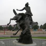 Bucking Bronco monument in Cheyenne, Wyoming