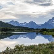Pristine lake and alpine terrain; Grand Teton National Park, Wyoming
