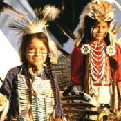 Native American dancers in Wyoming