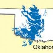 Map of port soil distribution in Oklahoma