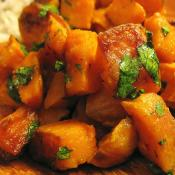 Lime-cilantro sweet potatoes