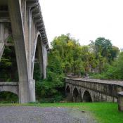 The Blaine Hill 'S' Bridge and U.S. 40 viaduct