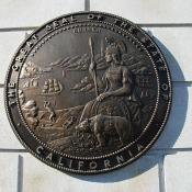 Representation of the great seal of California at the Civic Center in San Francisco