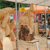Unique carvings at the Chainsaw Carving Competition in Reedsport, Oregon, June 2013