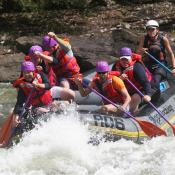 White-water rafting at Gauley River National Park, West Virginia