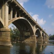 Gervais Street Bridge over the Congaree River in Columbia, South Carolina