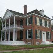 Grouseland mansion in Vincennes, Indiana; home of William Henry Harrison