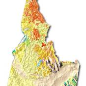 Idaho geology and topography map