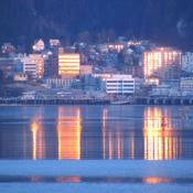 Juneau, Alaska at dawn