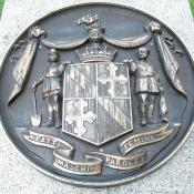 Sculpture of Maryland state seal