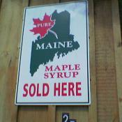 Pure Maine maple syrup sign