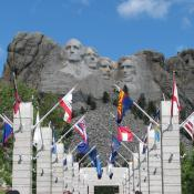 State flags at Mt. Rushmore