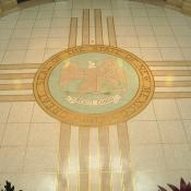Great seal of New Mexico on Capitol building floor