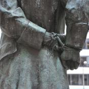 Nathan Hale's hands tied