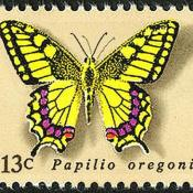 Oregon swallowtail butterfly postage stamp