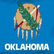 Oklahoma flag detail